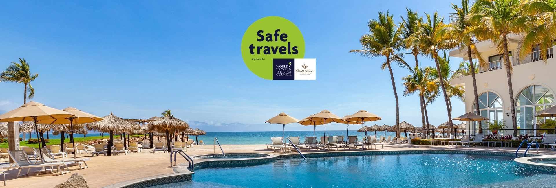Villa del palmar puerto vallarta receives the safe travels stamp from the wttc