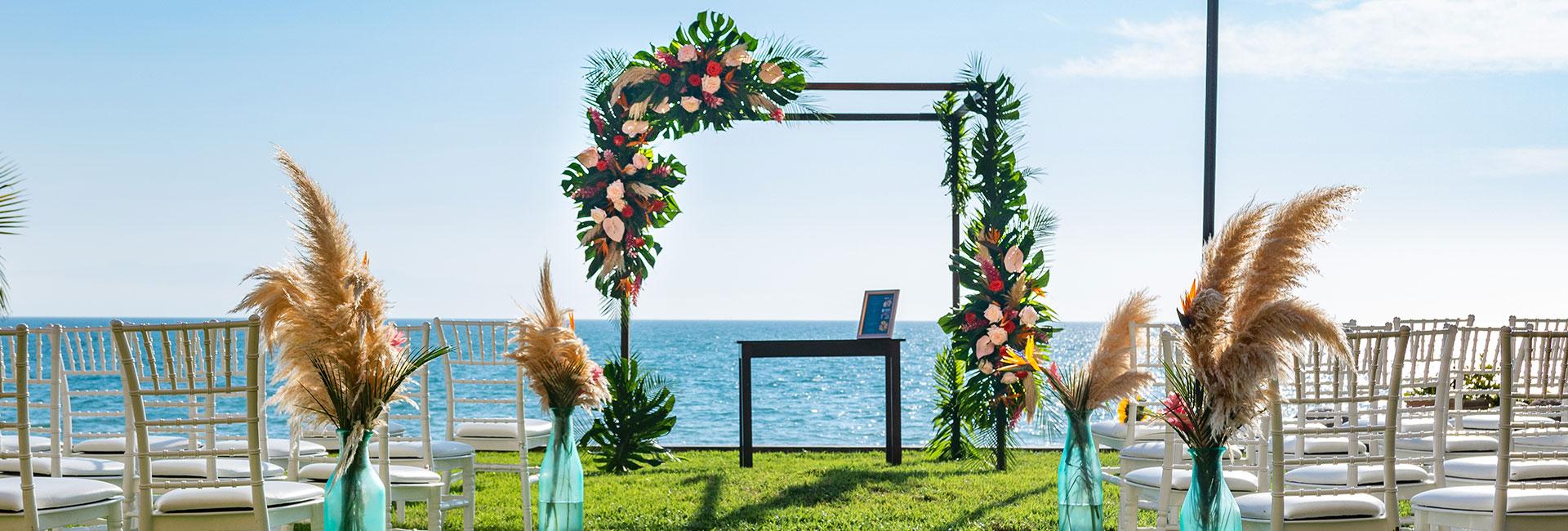 Beachfront wedding in riviera nayarit mexico