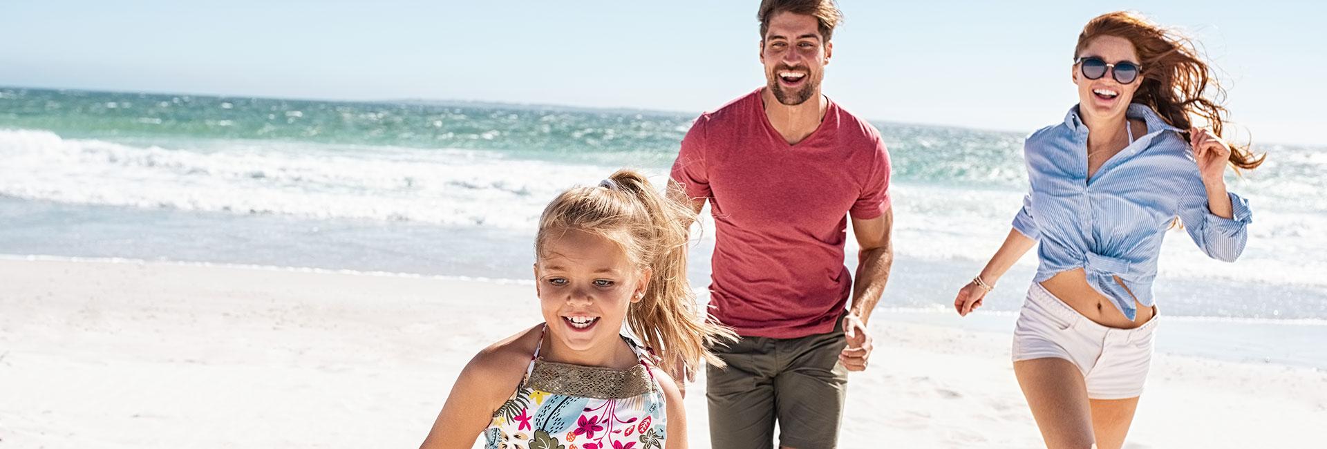 Beach family vacation
