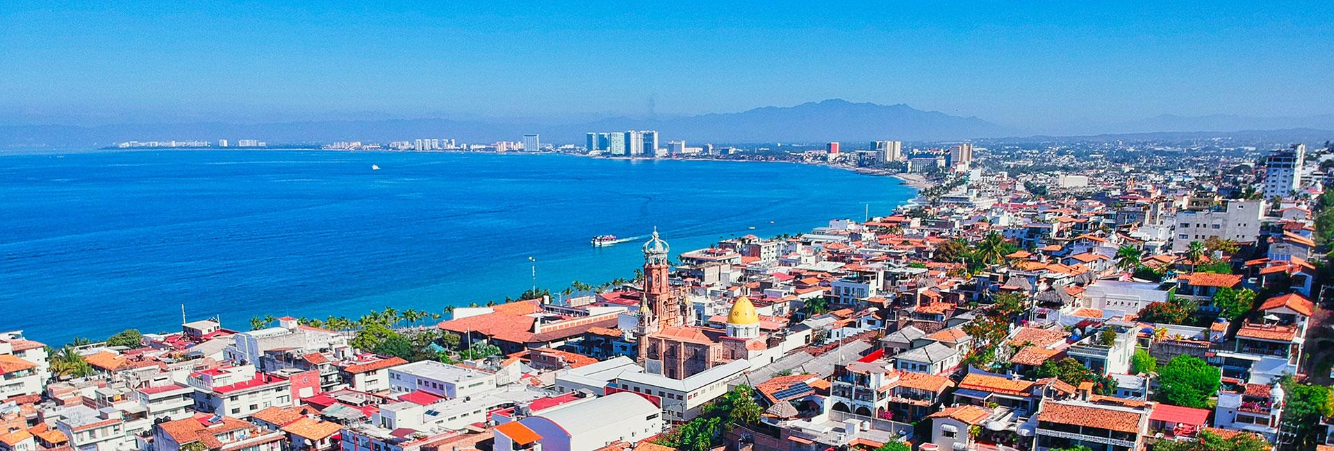 Puerto vallarta mexico aerial view