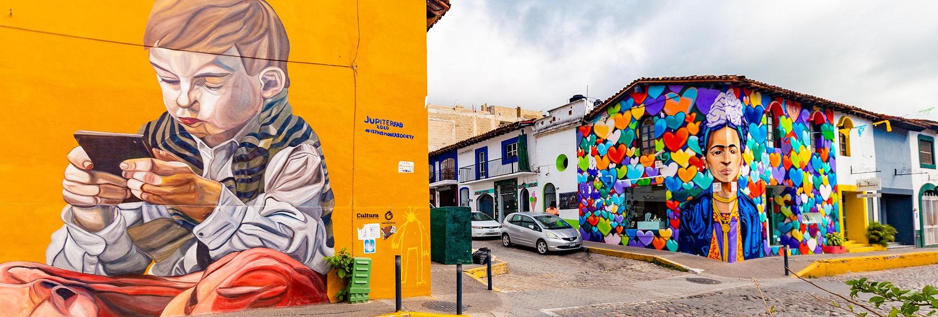 Mural street art in puerto vallarta