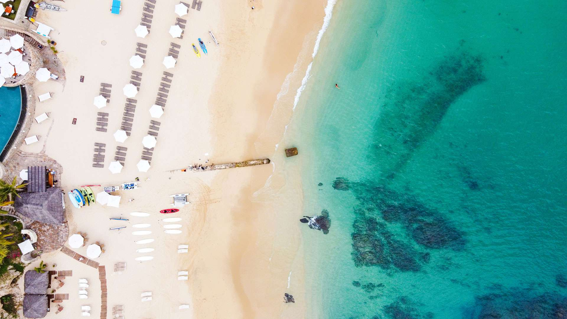 Aerial View Of Palmilla Beach