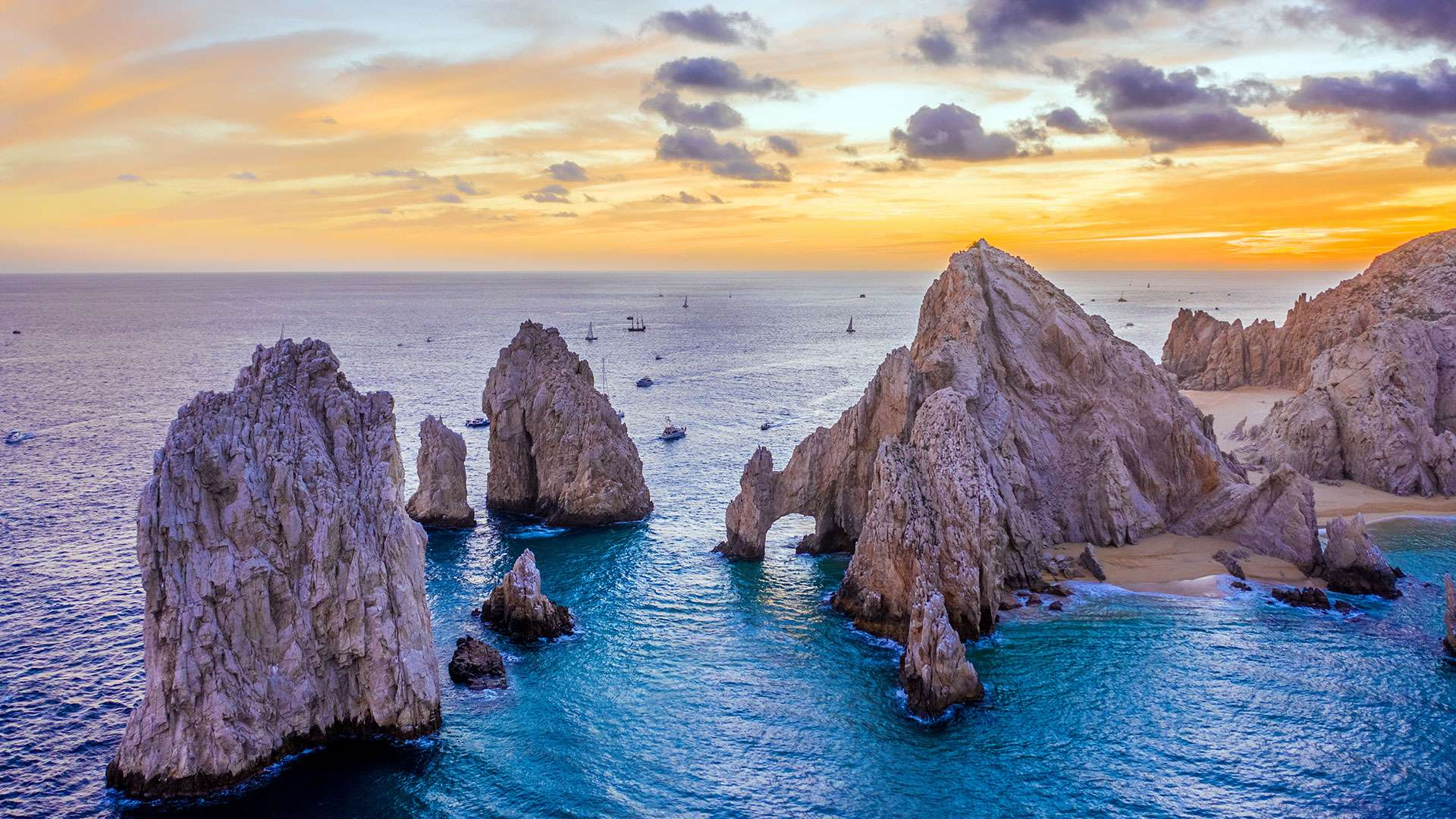 Aerial View Of The Arch Of Cabo San Lucas