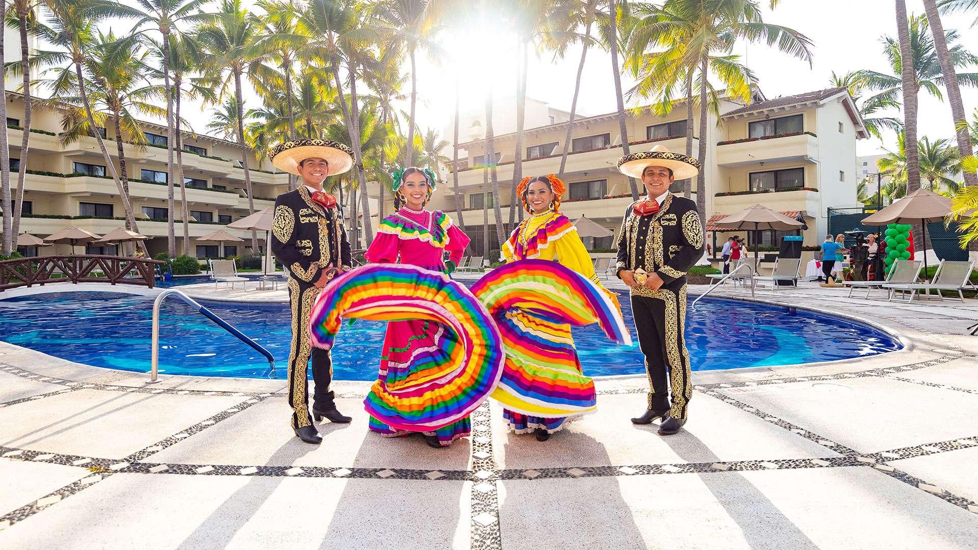 Mexican Experience Folk Dancers At Villa Del Palmar Puerto Vallarta