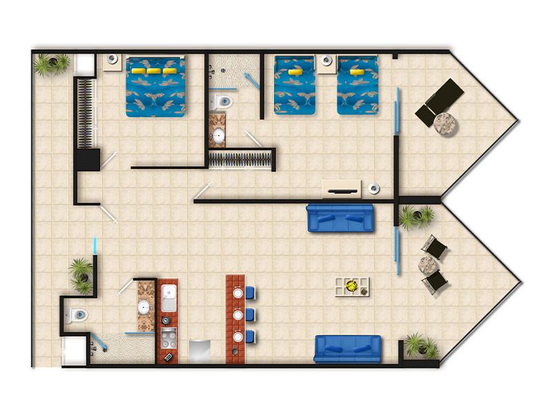 Suite De Dos Recamaras Villa