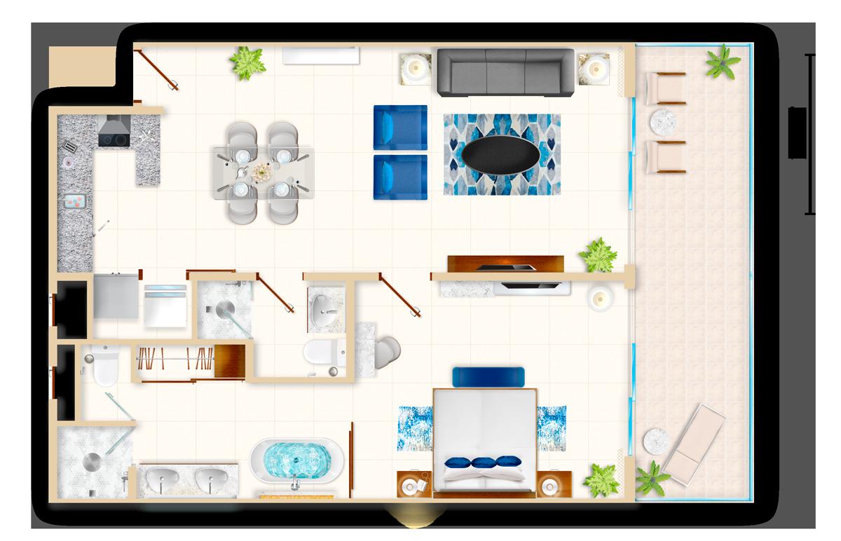 One Bedroom Suite Pool View Vlv